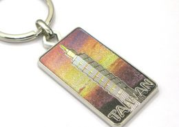 Taiwan landmark key chain with relief sculpture