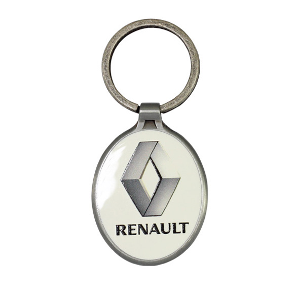 Metal Printed Promotional Keyring in Oval Shape