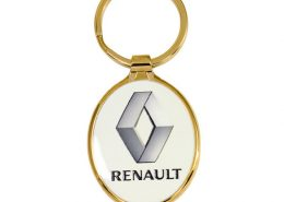 Wider Oval Shape Promotional Keychain
