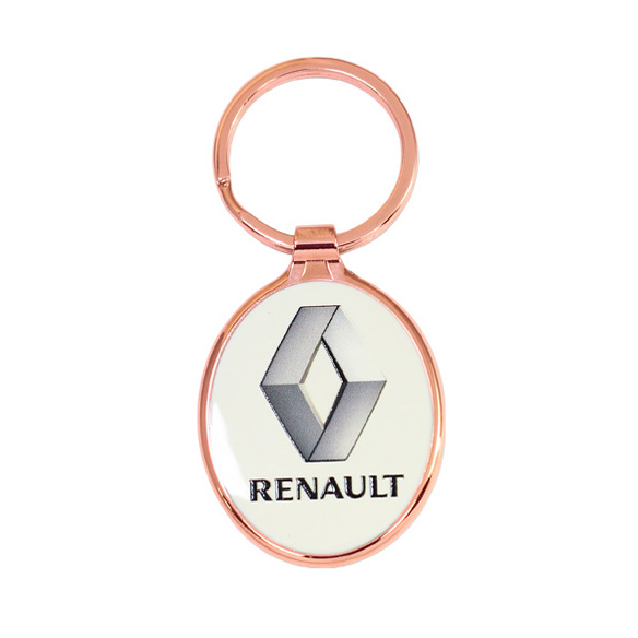Oval Shaped Zinc Alloy Keyring