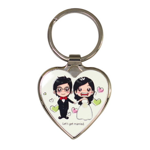 Wedding Souvenir Gifts - Heart Shape Keychain