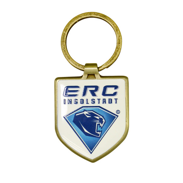 Custom Logo Shield Shaped Metal Keychain
