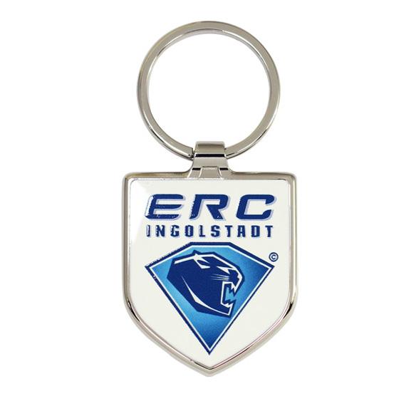 Shield Shaped Metal Keychain