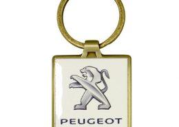 Custom Logo Square Metal Keychain