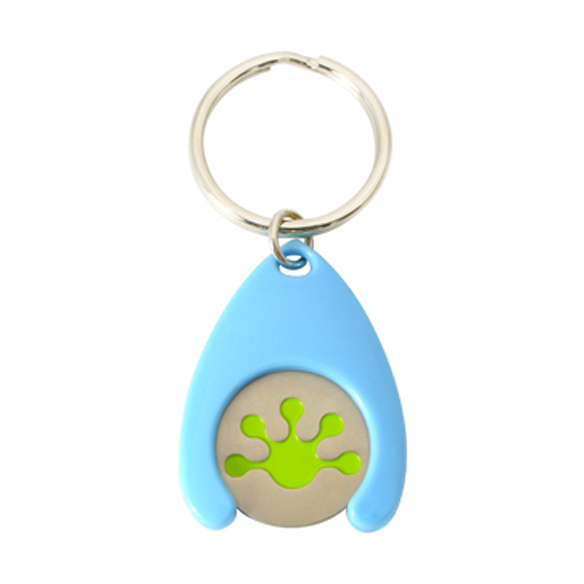 Plastic coin holder keychain,cj-20001p