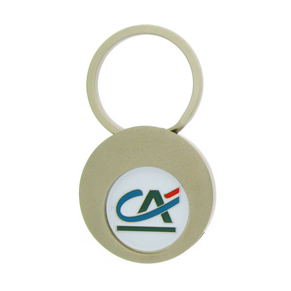High Quality Custom Laser Engraving Trolley Coin Keychain