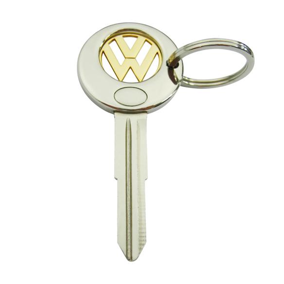 Key shape shopping cart coin keychain,cj-20005