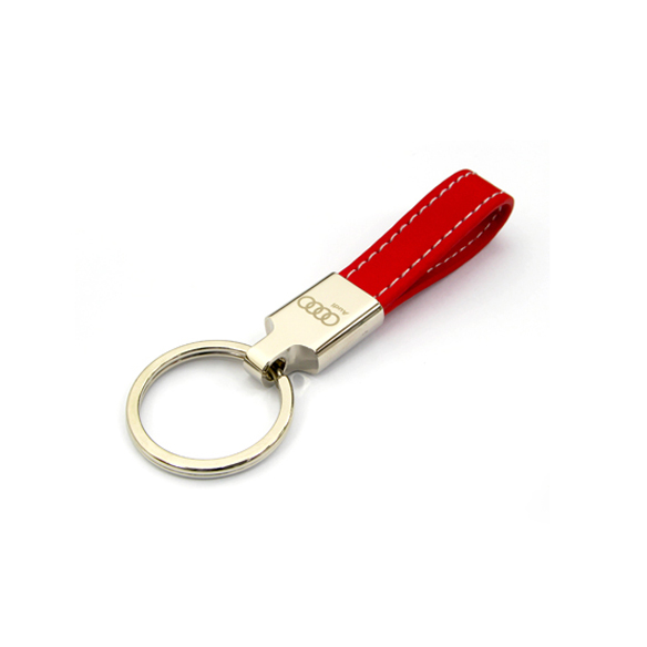 Zinc Alloy Leather Keychain with laser engraving-Chung Jen Metal Keychain Manufacturer