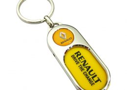Capsule Shaped Printing Plaque Keychain