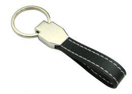 Blank Keyring in Leather & Metal Alloy-Chung Jen Zinc Alloy Souvenir Manufacturer