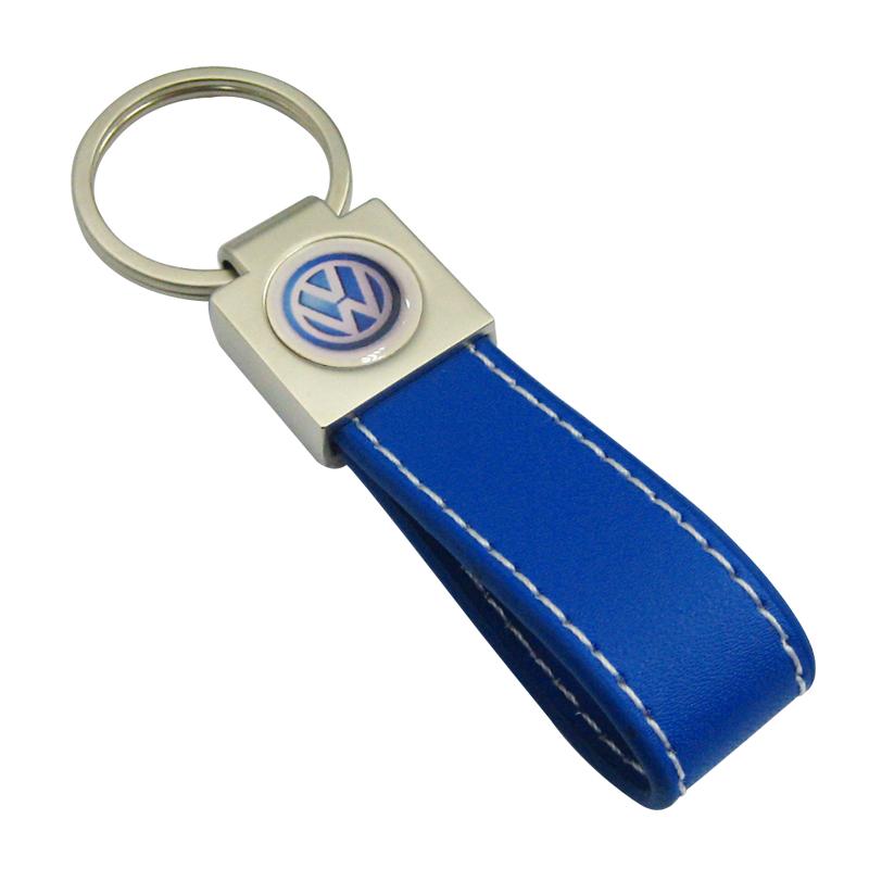 Car Logo Leather Keyring with Epoxy Sticker-Chung Jen Metal Keyring Manufacturer
