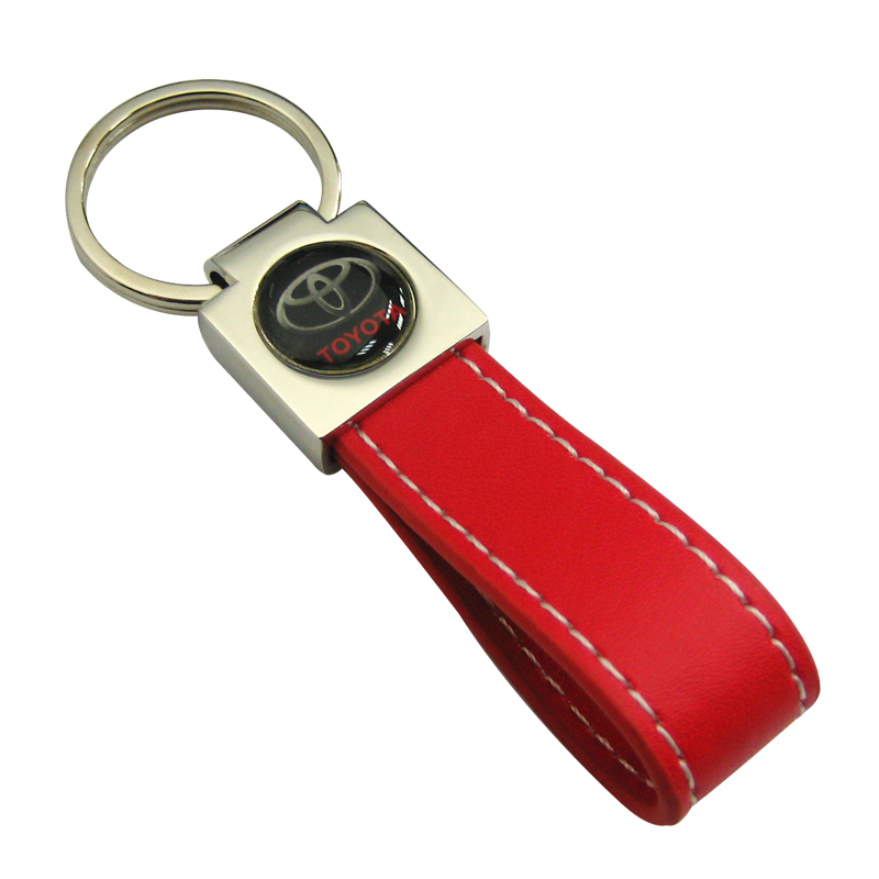 Leather Keychain with Epoxy Sticker-Chung Jen Metal Supplier