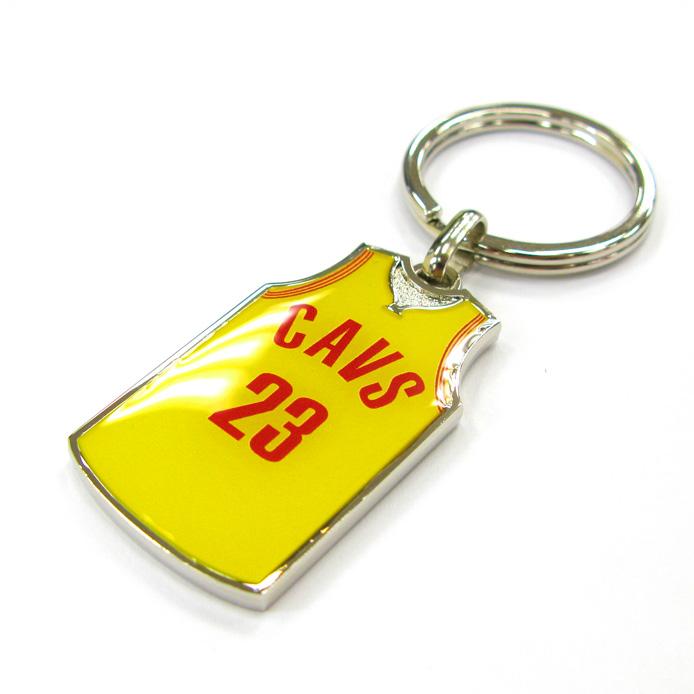 Logo printing sport jersey blank zinc alloy keychain