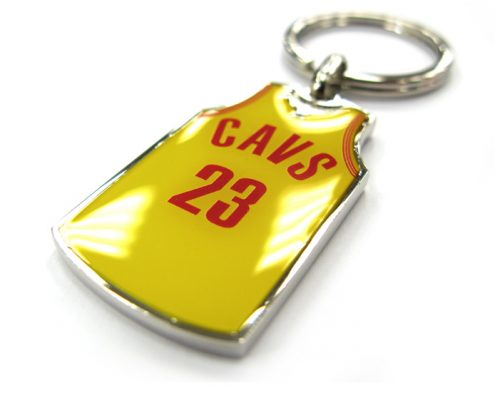 Basketball jersey keychain with crystal epoxy