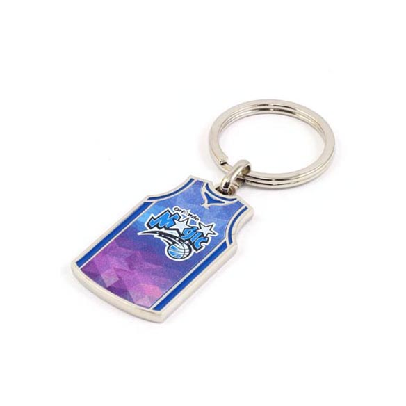 Basketball Jersey Metal Keychain