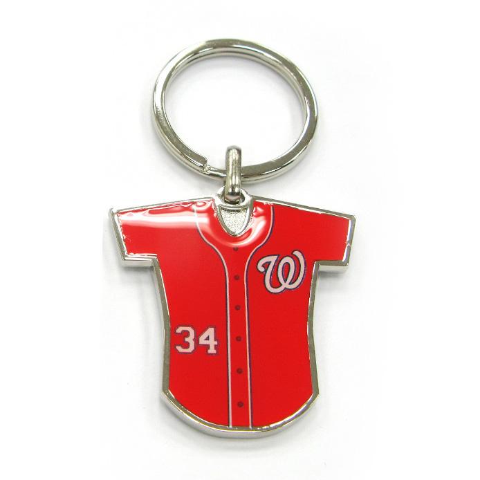 Baseball Jersey Zinc Alloy Keychain