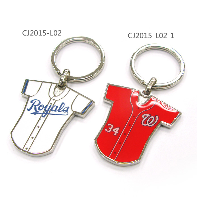 Different types of baseball jersey keychain