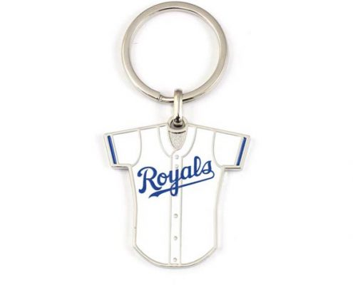 Personalized colorful epoxy baseball jersey keychain