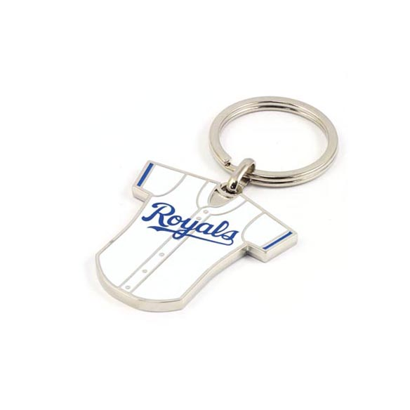 Colorful epoxy player jersey keychain