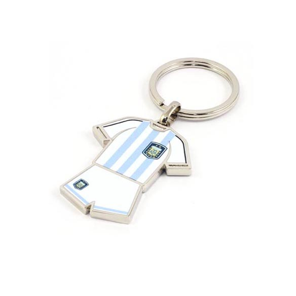 Custom soccer apparel keychain with colorful epoxy