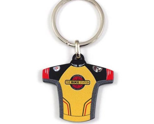 Bike Jersey Metal Keychain