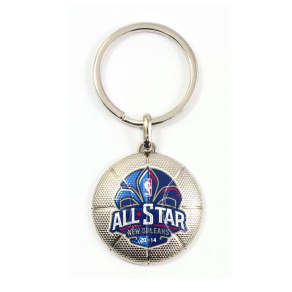 Custom basketball keychain with brand logo-The Best Metal Alloy Keyring Manufacturer