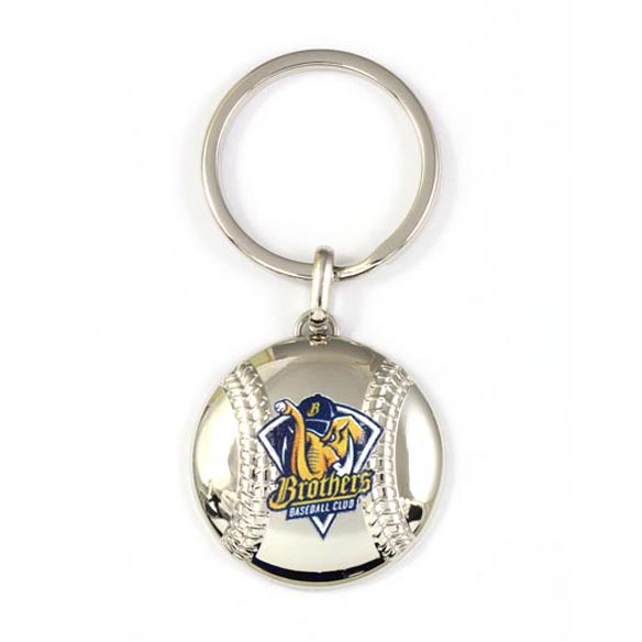 Ball shape zamac keychain with logo printing