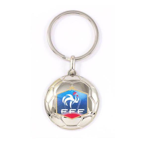 Football zinc alloy keychain for gift