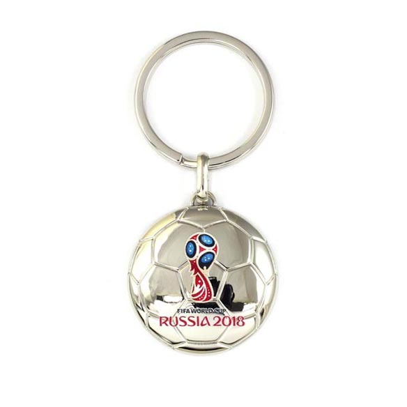 Football Shaped Zinc Alloy Keychain