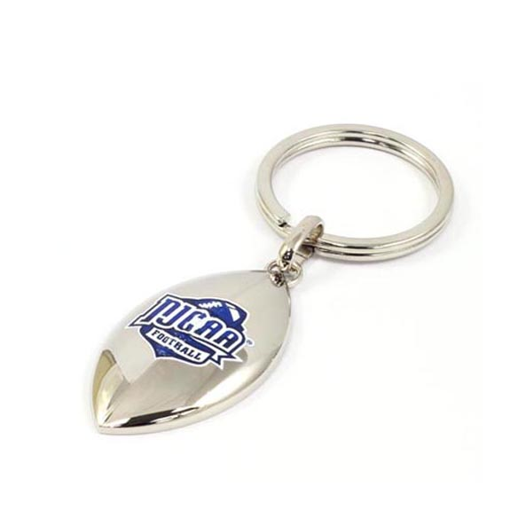 Personalized digital printing key ring with rugby shape