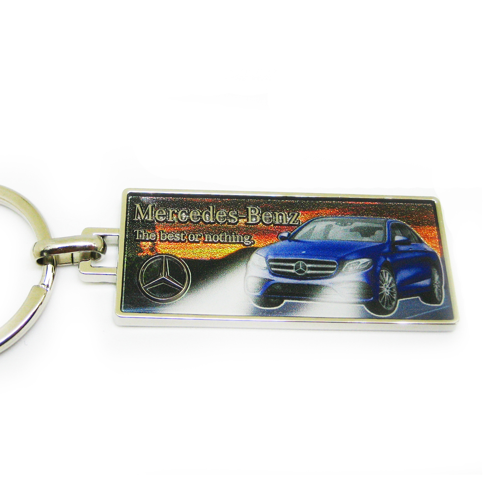 Car keychain with unique area digital printing
