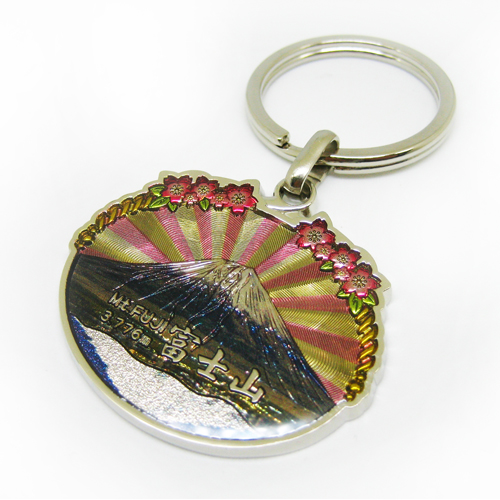 Japan Mt.FUJI keychain with digital printing