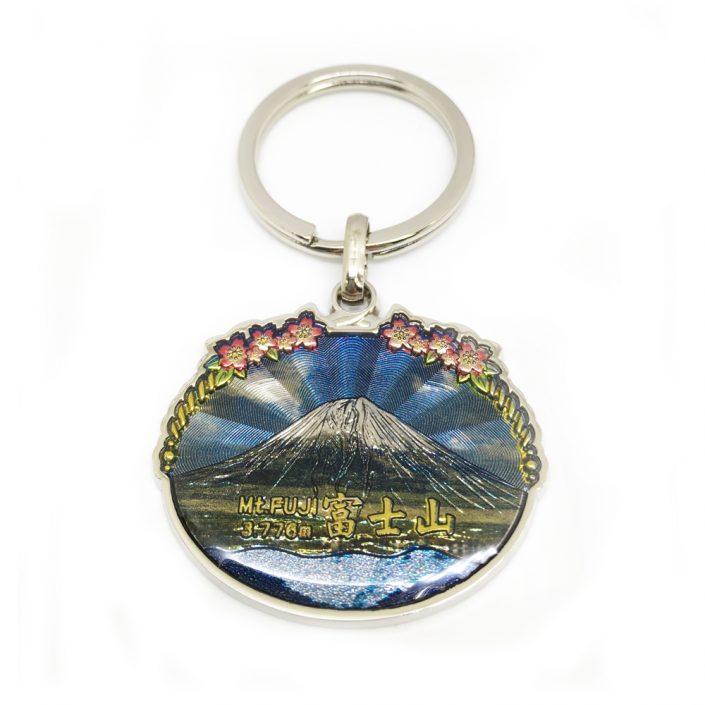Zinc Alloy Keyring in Mount Fuji