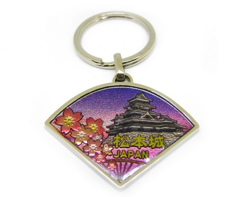 Zinc alloy keychain for Japan natural scenery gift