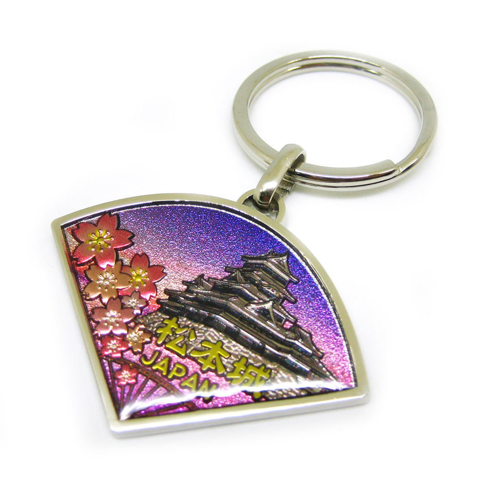 Japan scenery printing key chain for souvenir