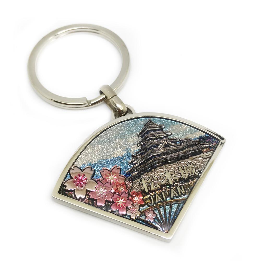 3D beautiful sakura keychain with digital printing