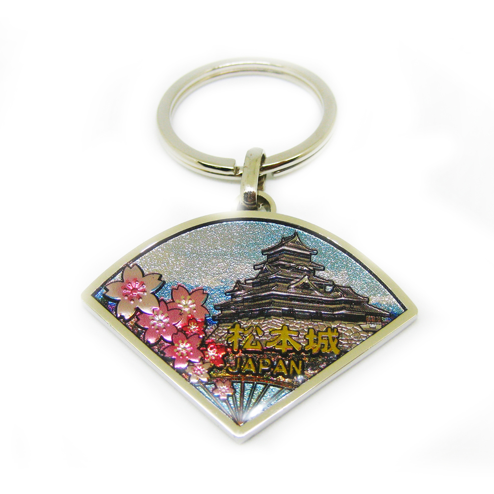 Japan natural scenery keychain with sakura