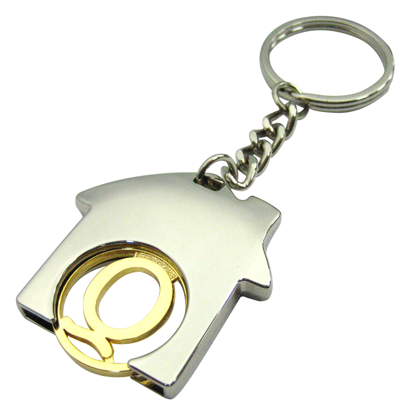 New custom house shape coin keychain,cj-house-2-The Best Metal Coin Keychain Manufacturer