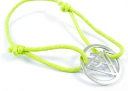 Cotton String Bracelet with Cut Out Charm