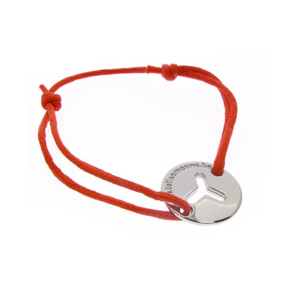 Custom Bracelet with Zinc Alloy Charm