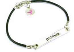 Leather String Bracelet with Logo Charm