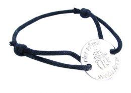 Relief Logo Zinc Alloy Bracelet