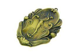 Antique 3D Embossed Badge