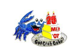 Crab Modeling Pin Badge