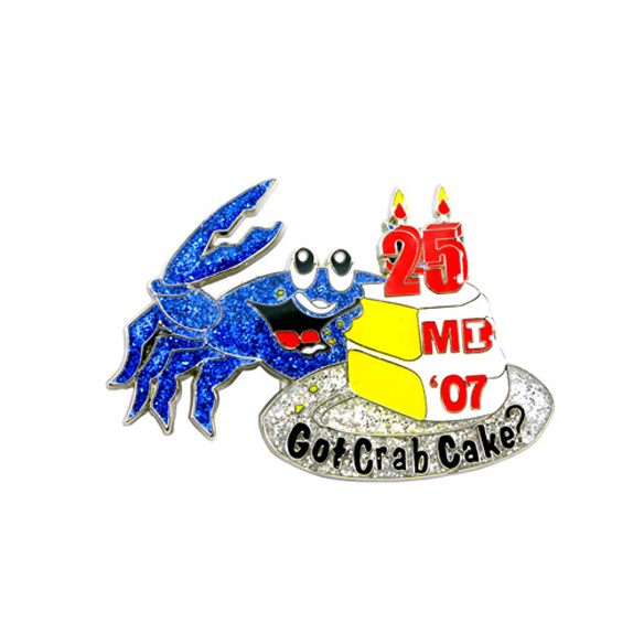 Crab Modeling Pin Badge
