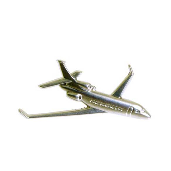 3D Airplane Modeling Pin Badge