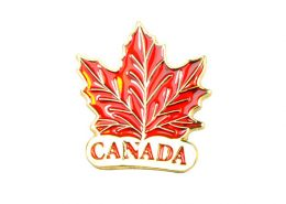 Canada Maple Leaf Pin Badge