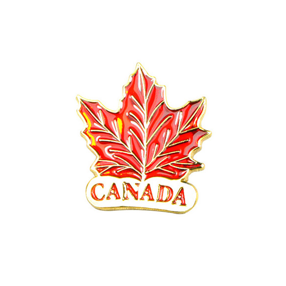 Canada Maple Leaf Pin Badge