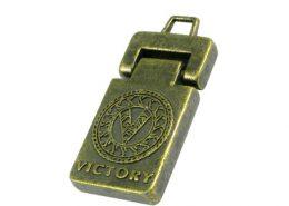 Antique Logo Metal Zipper Pull