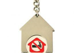 House shape keychain with soft enamel coin,cj-house